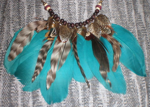 feather necklace from forever 21