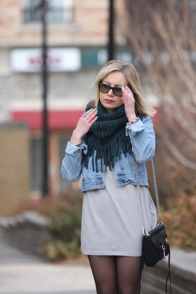 casual edgy look for winter