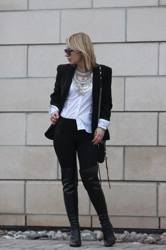 menswear outfit white blouse