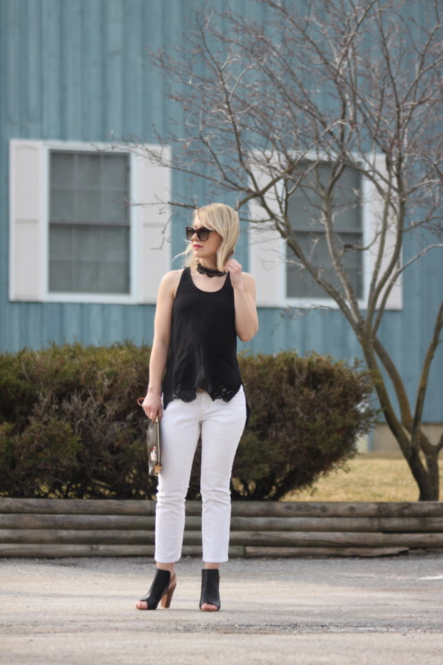 Gentle Fawn Lights tank with white cropped jeans