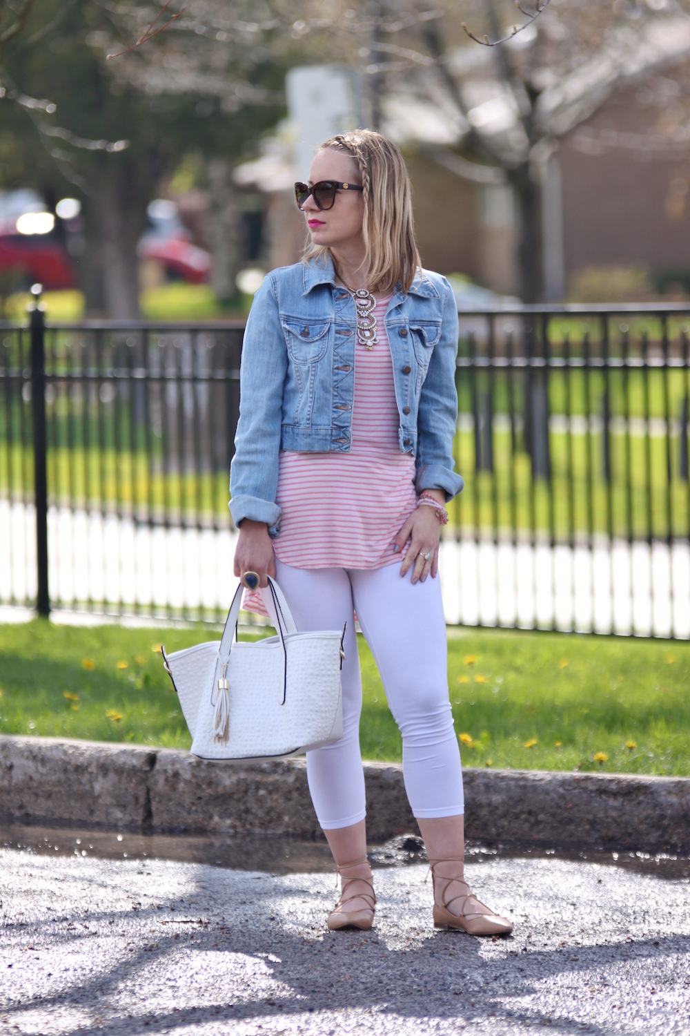 pink stripes nautical outfit