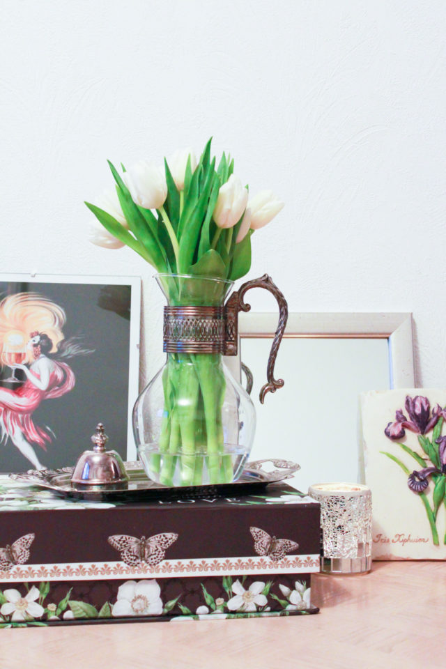 vintage pitcher as vase