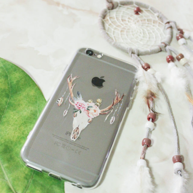 arla cases cow skull with roses case
