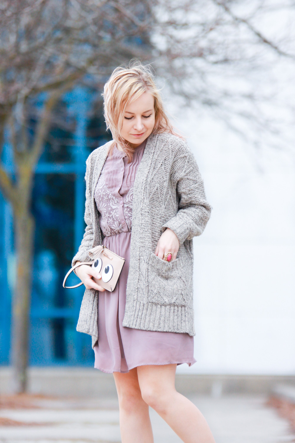 cardigan with minidress