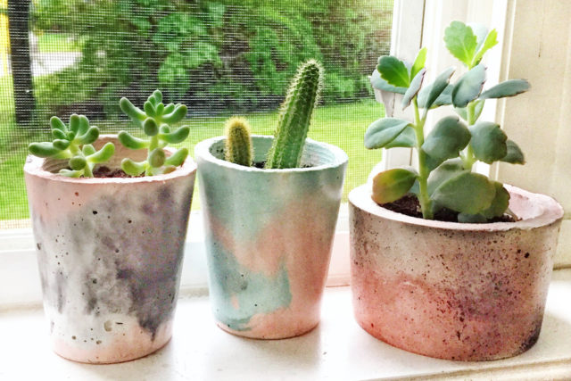 Lisa Terry's marble planters