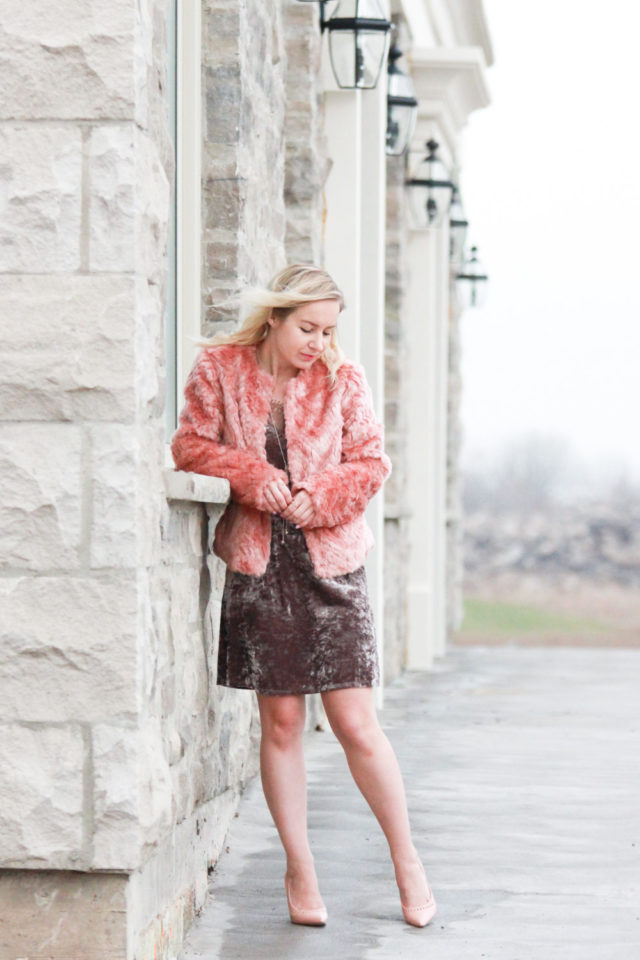 Velvet, Pink Fur and How to Salvage Bad Outfit Photos